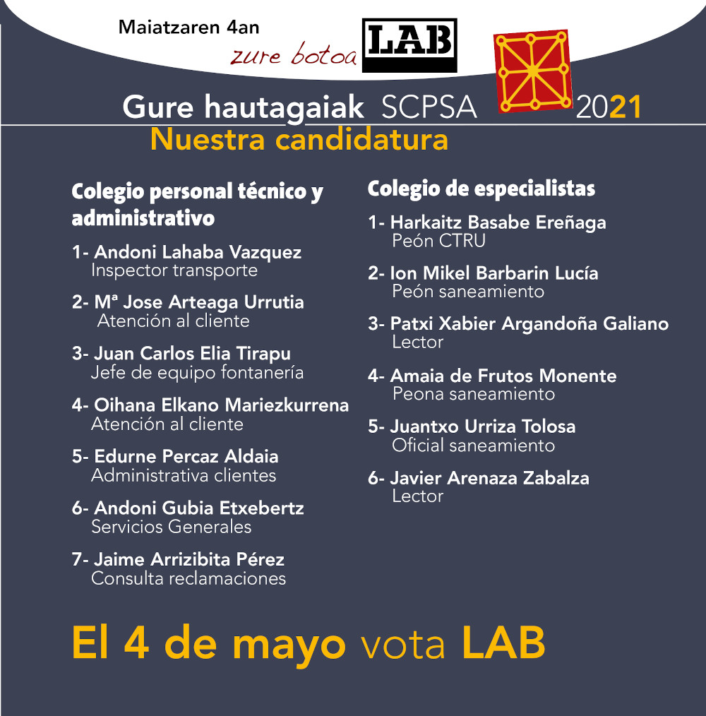 UDAL SCPSA candidatura 2021